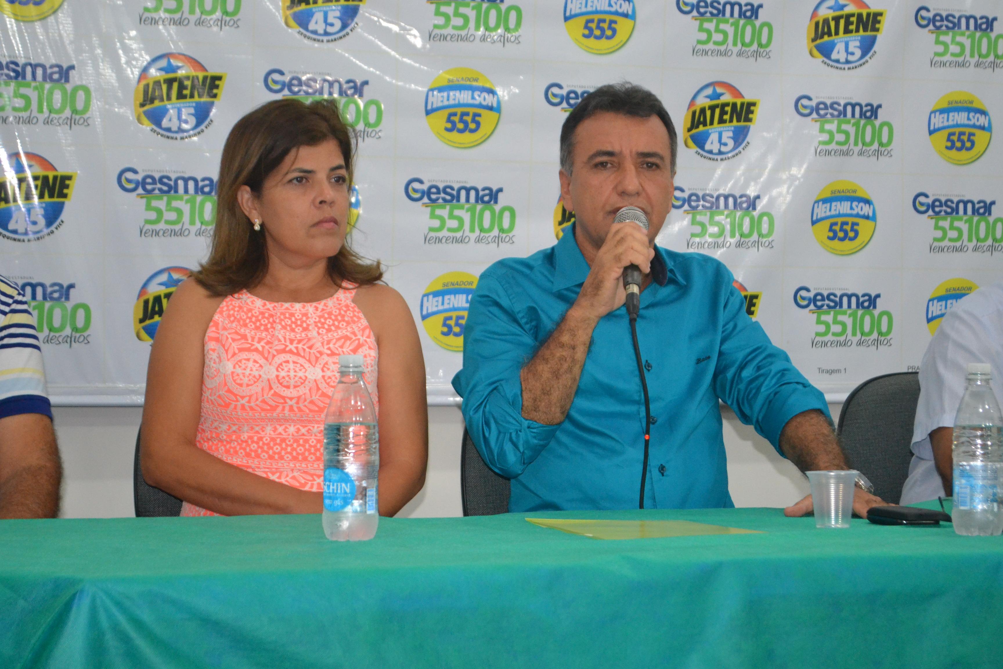 O Partido Social Democrático (PSD) realizou uma entrevista coletiva para apresentar oficialmente à imprensa a candidatura de Gesmar Rosa