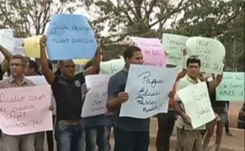 Marabá : Aprovados em concurso fazem protesto