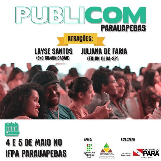 Com inscrições gratuitas, PUBLICOM será em Parauapebas