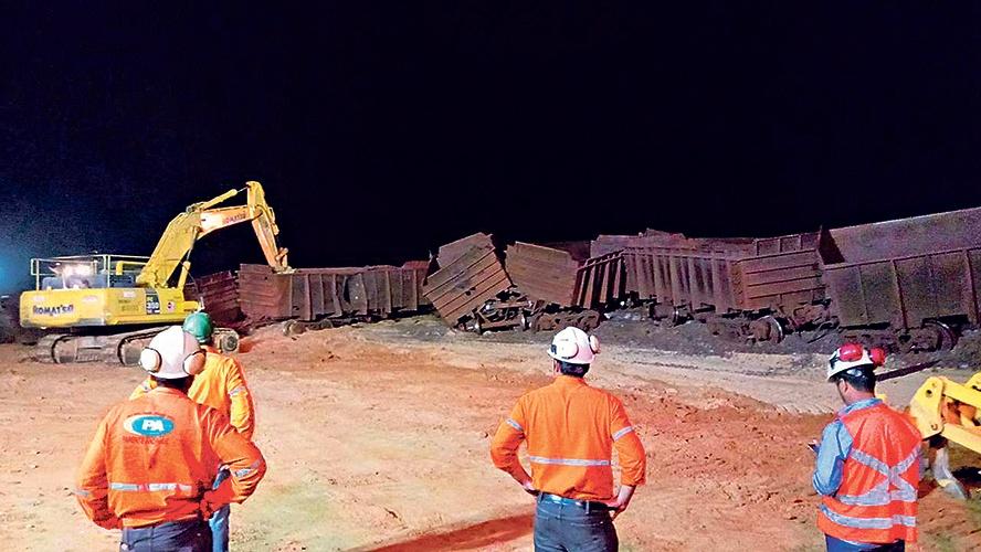 Trem descarrila na Estrada de Ferro Carajás