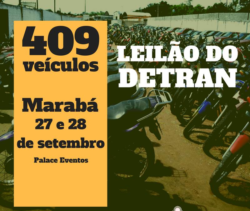 Detran de Marabá realiza leilão de mais de 400 veículos
