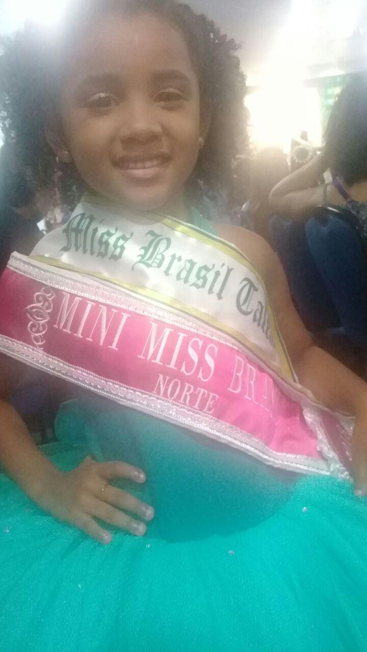 Menina de Parauapebas é eleita Miss Talento Brasil e Miss Norte Brasil