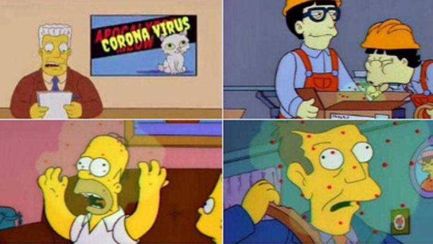 'Os Simpsons' previram o surto do coronavírus há quase 30 anos