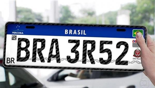 Veículos novos terão placas do Mercosul em dezembro