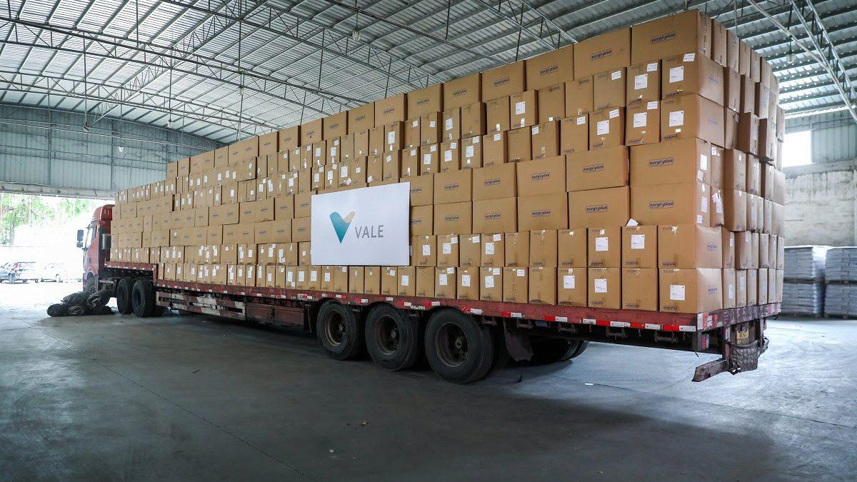 Chega ao Brasil primeiro lote de EPIs comprados pela Vale na China