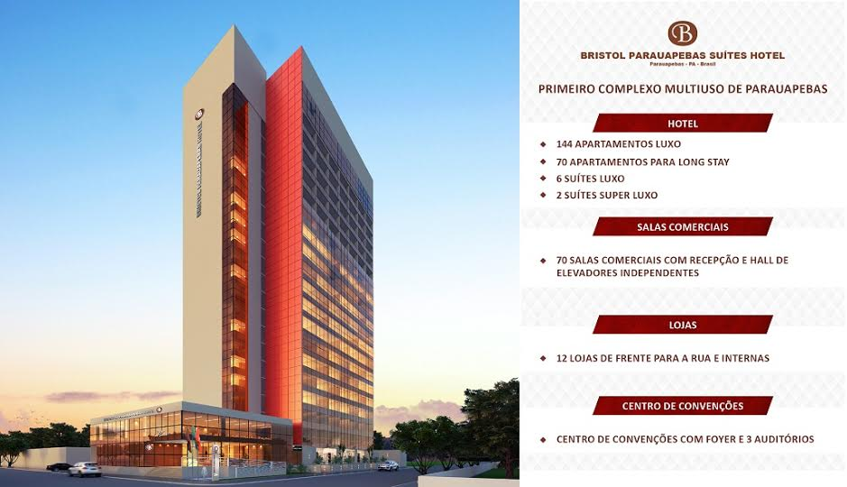 Bristol Parauapebas Suítes Hotel será lançado no município