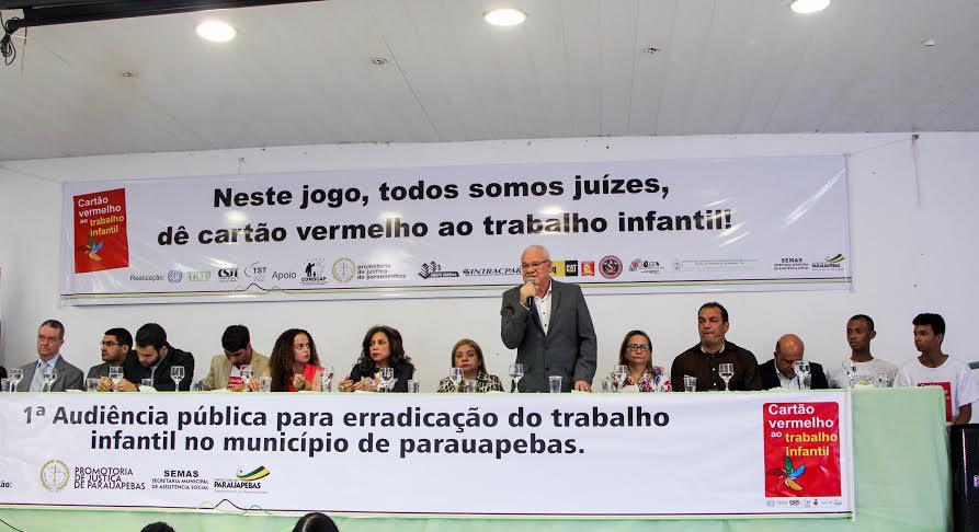 Prefeito participa de lançamento da campanha contra trabalho infantil