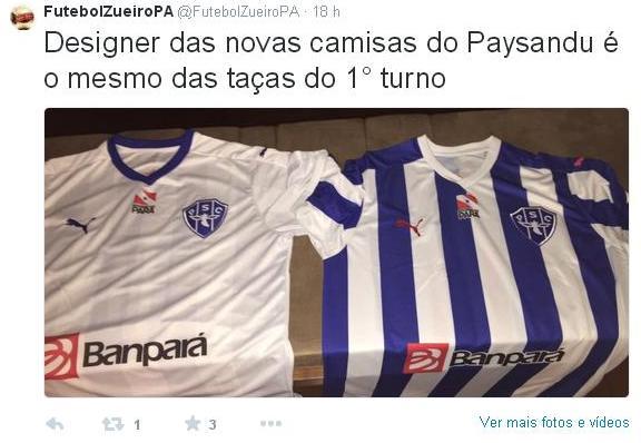 Uniforme do Paysandu inspira memes produzidos por azulinos