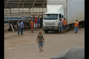 Caminhoneiros paralisaram as atividades em Marabá