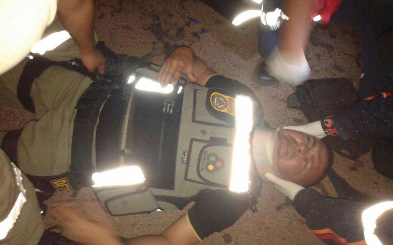Agente do Detran Hélio Kakiado é atropelado durante fiscalização