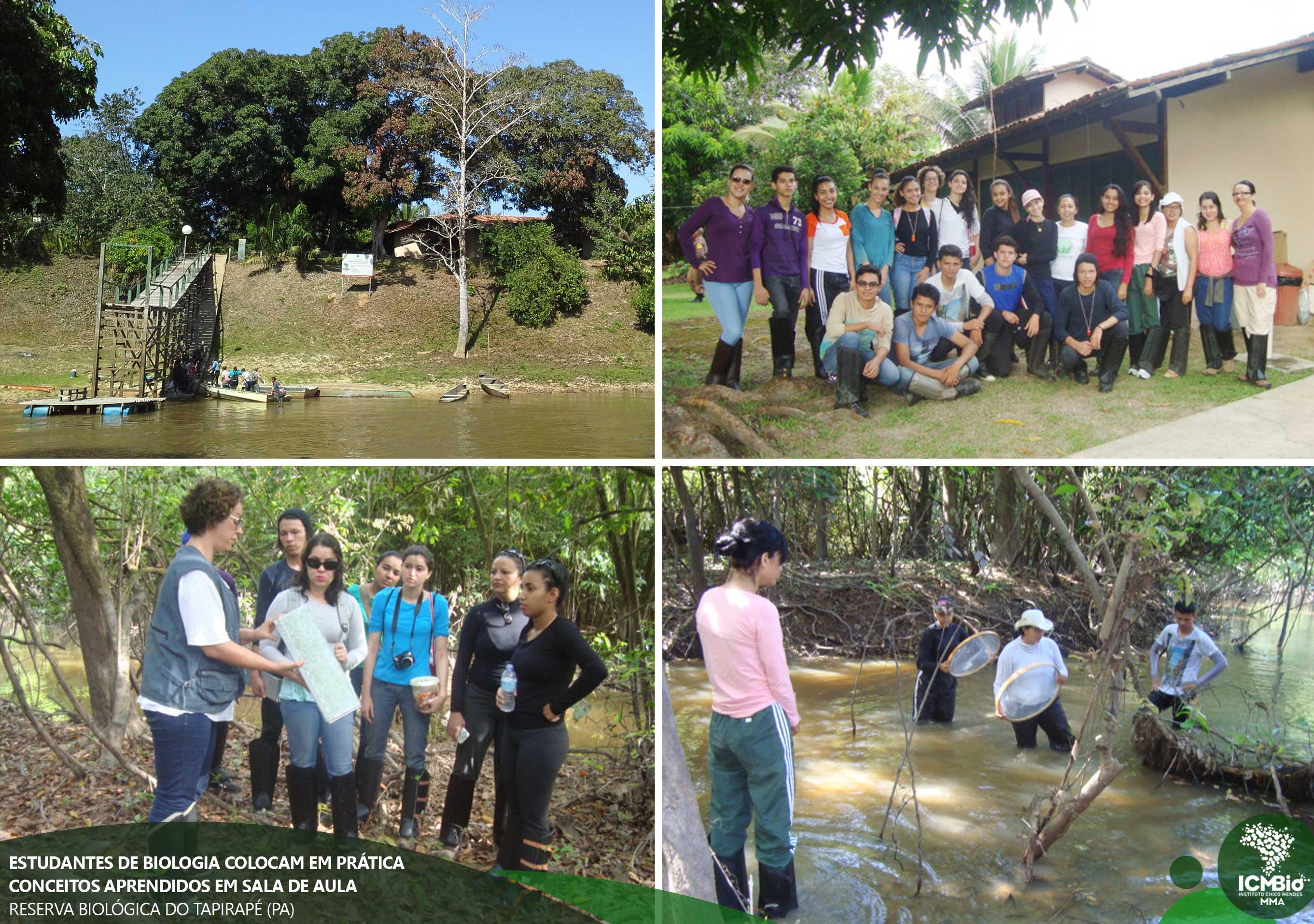 Estudantes fazem viagem de campo à Reserva Biológica do Tapirapé-Aquiri