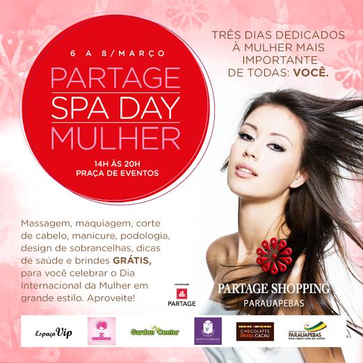Partage Spa Day será realizado em comemoração ao Dia da Mulher