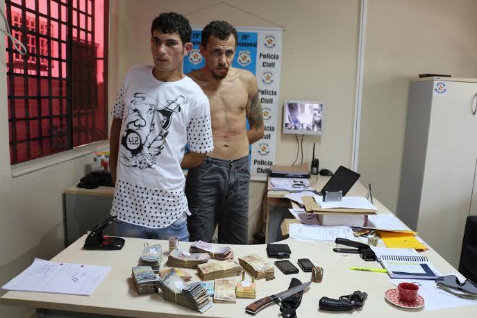 Policia Civil prende Assaltantes e recupera dinheiro levado de escola