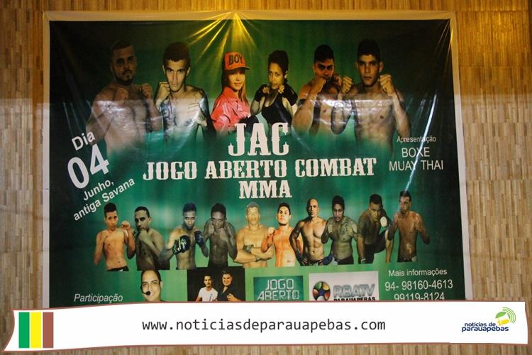Sucesso: Jogo Aberto Combat MMA estreia em Parauapebas com recorde de publico