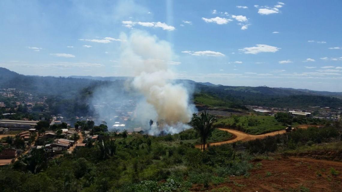 Grande números de queimadas cria uma onda de calor em Parauapebas