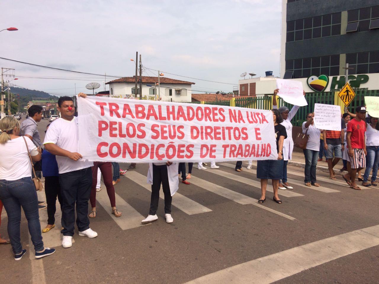 Salários atrasados: Enfermeiros voltam a manifestar em frente ao HGP
