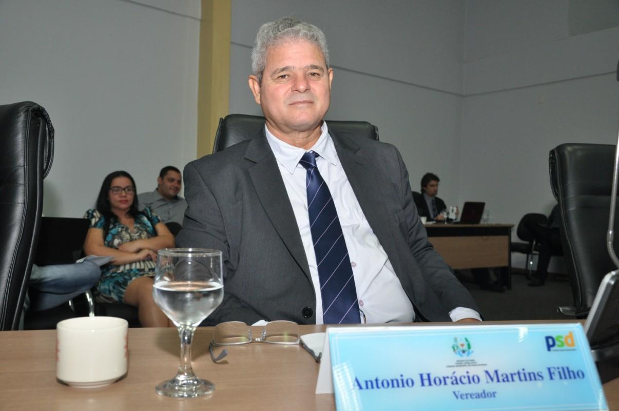 Mensagem do vereador Horácio Martins (PSD)