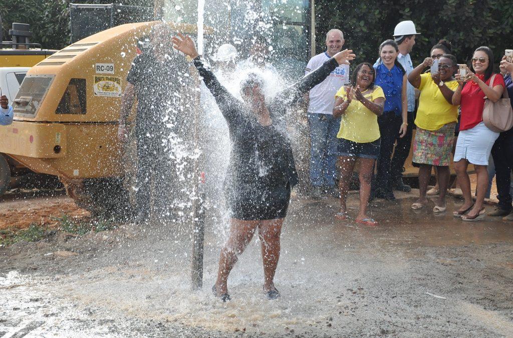 Prefeitura inaugura rede de abastecimento de água no bairro Montes Claros