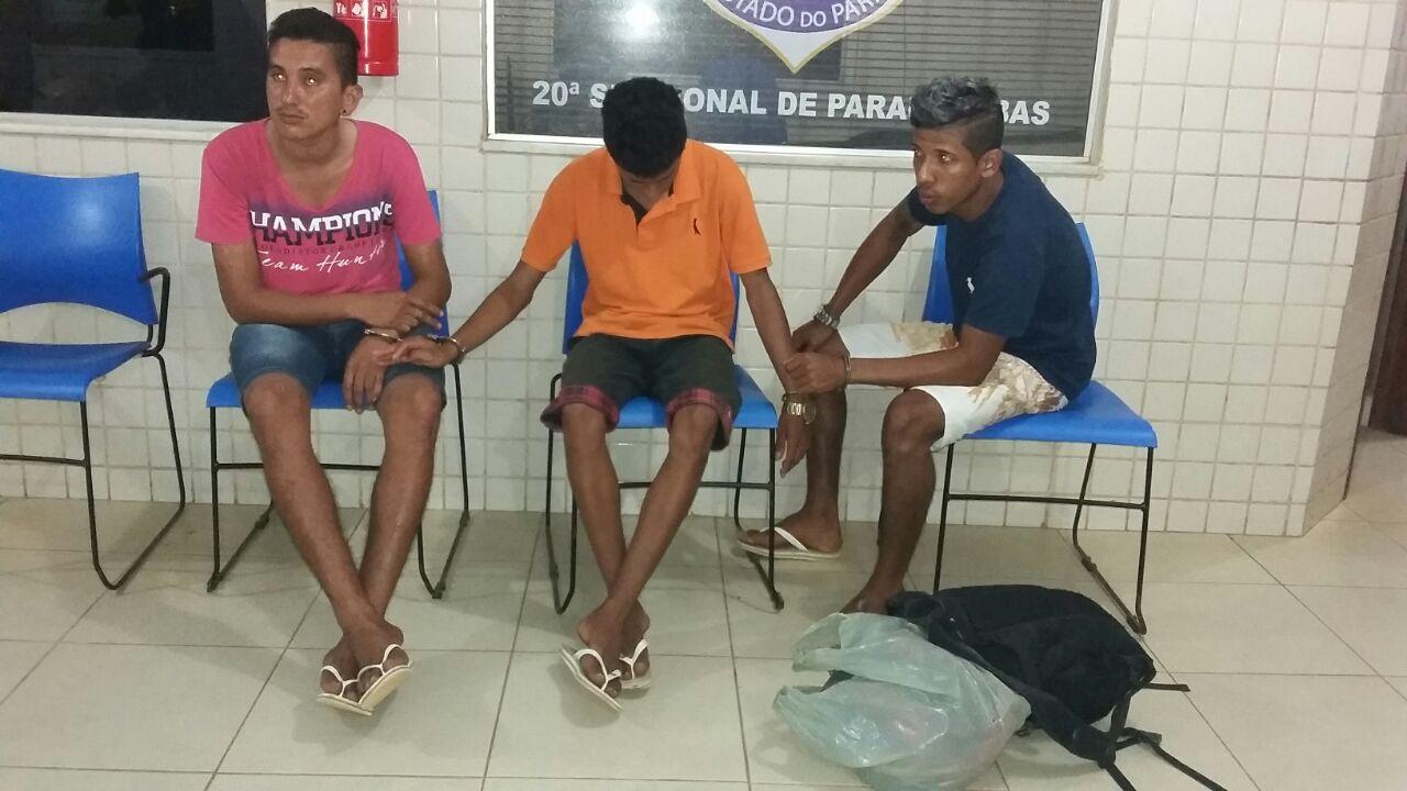 Em Parauapebas, trio é preso com drogas e moto roubada