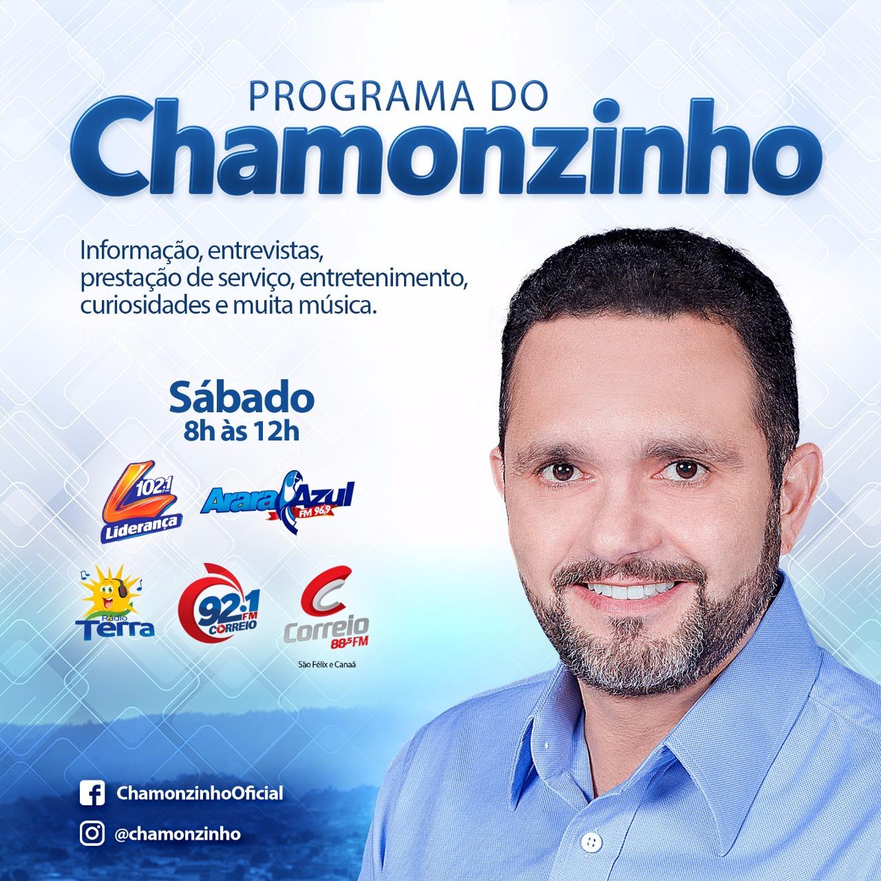 Programa do Chamonzinho estreia com o 'pé direito' nas melhores rádios da região