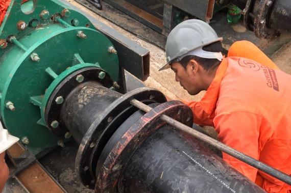 Após um mês de seca, Cosanpa inaugura sistema emergencial de captação de água em Marabá