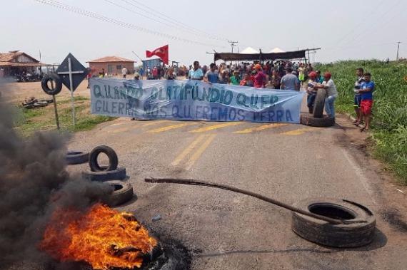 Protesto dos trabalhadores do MST na BR-155 entra no 2º dia
