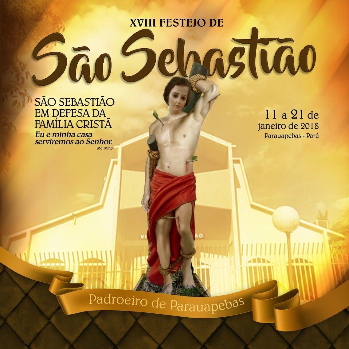 Em Parauapebas, igreja católica divulga a programação do 18º Festejo de São Sebastião