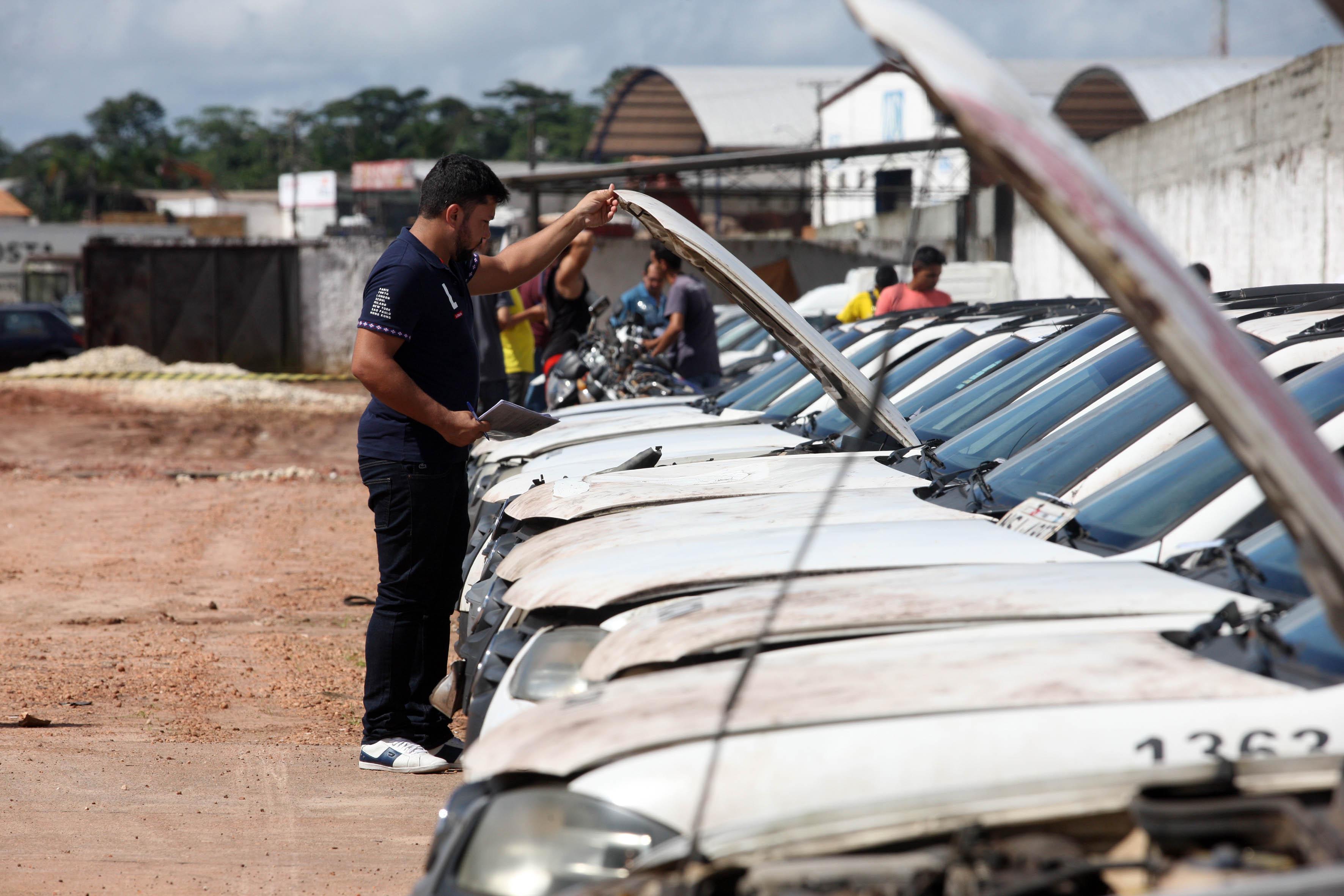 Detran leiloa 765 veículos em Belém e Parauapebas