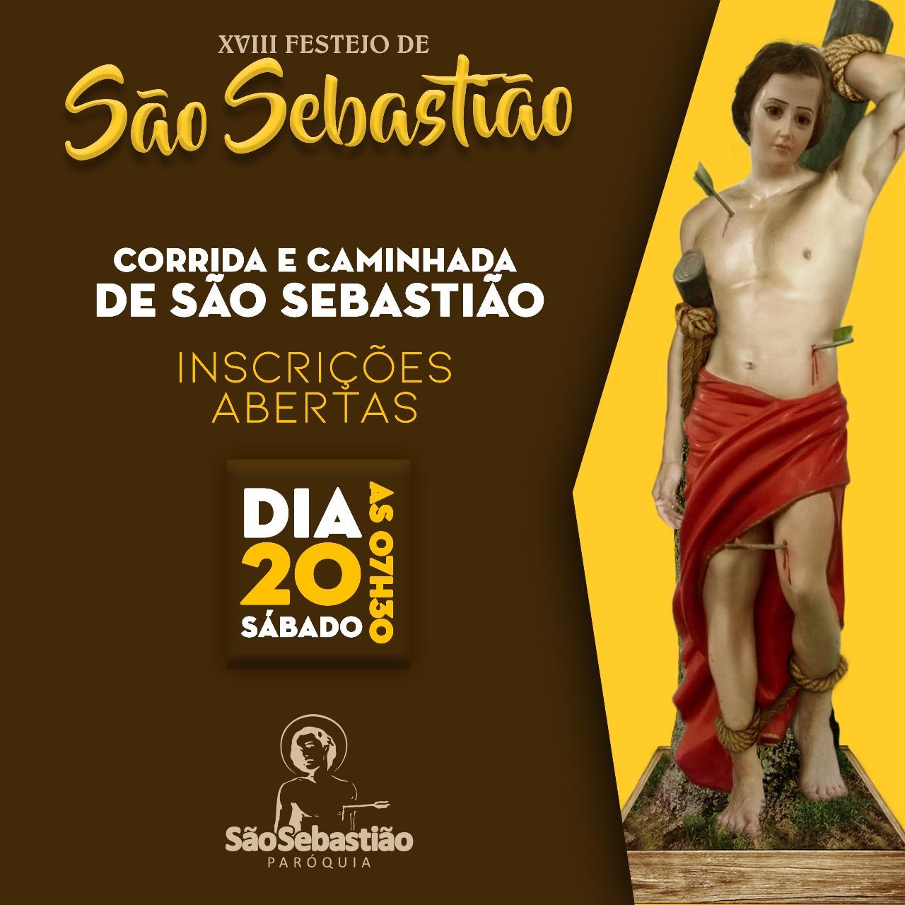 Inscrições para a tradicional Corrida de São Sebastião de Parauapebas iniciam hoje