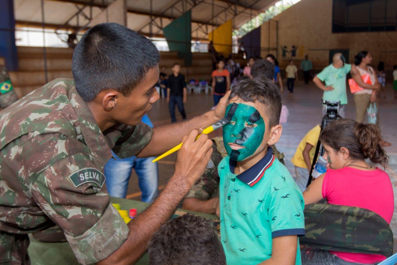 Serra Pelada foi beneficiada com a Ação Social do Exército