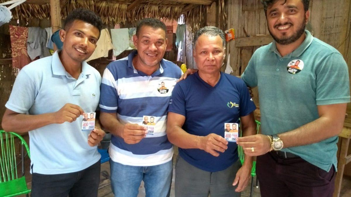 Candidato a deputado federal Frank  recebe apoio no distrito de Serra Pelada