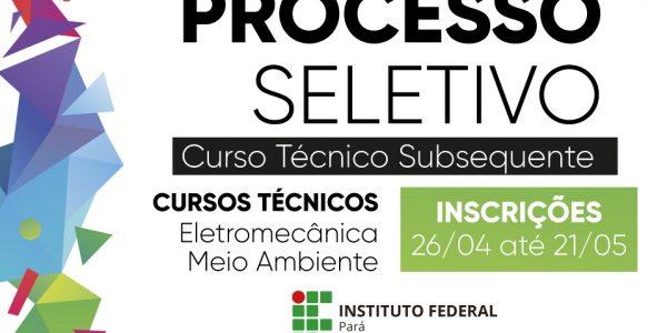 IFPA – Campus Parauapebas abre inscrições para cursos técnicos gratuitos