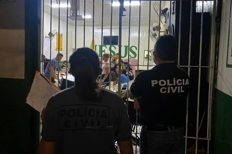 Polícia Civil fecha igreja e encerra festa em cumprimento ao decreto governamental