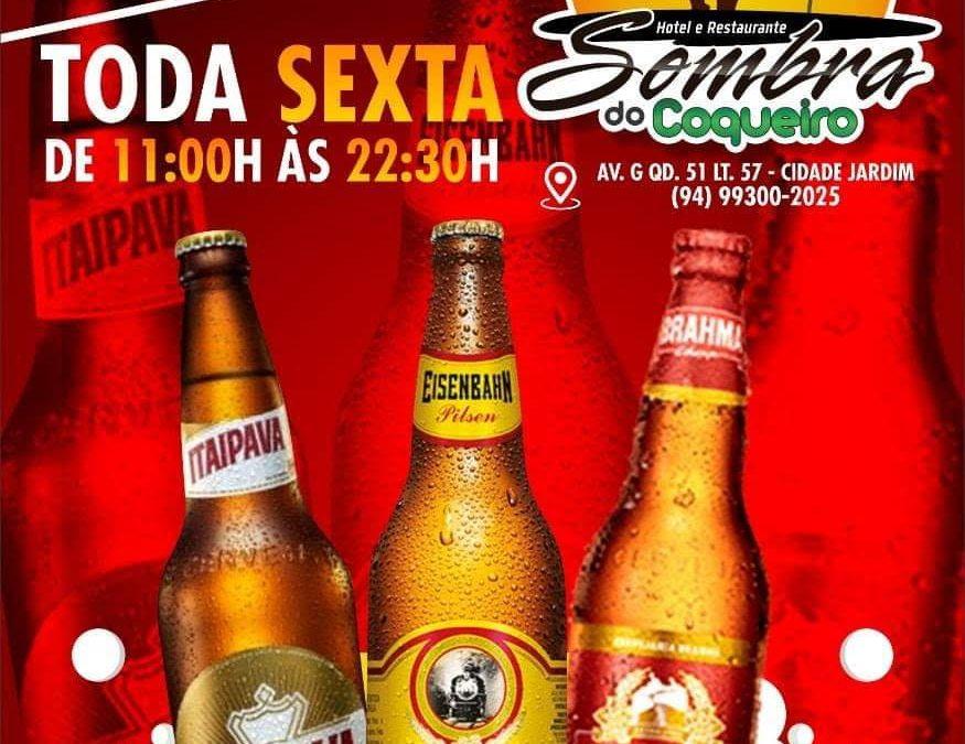 Restaurante SOMBRA DO COQUEIRO lança mega promoção as sextas-feiras